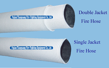 Single Jacket / Double Jacket Fire Hose with American Couplings