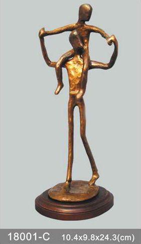 bronze statue father and son