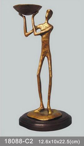 bronze statue candle holder