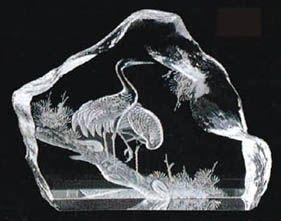 crystal 3d laser engrave