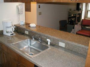 Stainless Steel Sinks suit Granite Vanity Tops