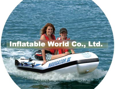 Rubber inflatable boat
