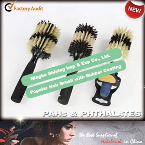 Popular Hairbrush with Rubber Coating