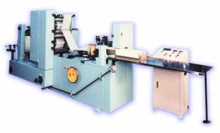 Vertical rotary paper napkin folding machine