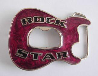 rocker star bottle opener belt buckle