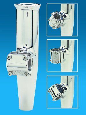 Adjustable Mid Mount Stainless Steel Rod Holders